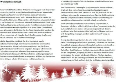Kurzgeschichte: Landhofmühle, Weihnachtsschmuck